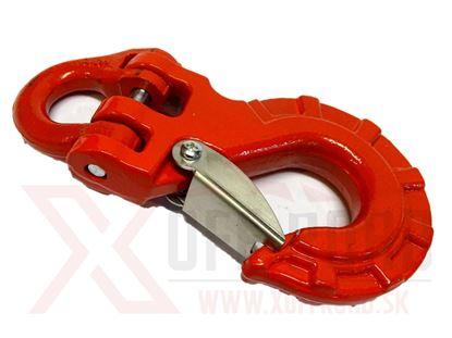 Obrázok pre výrobcu Hák oceľ červený veľký WLL 3.15T